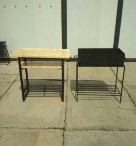 Комплект: мангал + мангальный столик