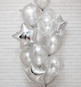 """Набор воздушных шаров """"Серебро"""""""