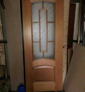 Распродажа двери с ветрины шпон