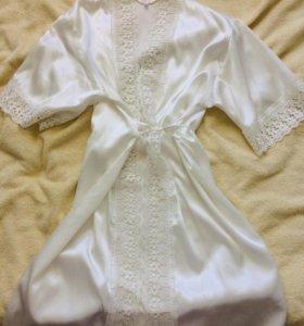 Комплект халат и сорочка (подойдёт для свадьбы)