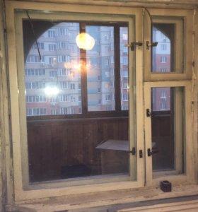Окна старые - после демонтажа