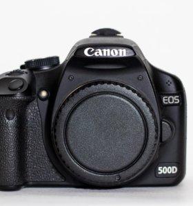 Зеркальная камера Canon 500d body + аксессуары