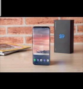 Samsung s 9 + оригинальный чехол книжка
