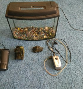 Аквариум+фильтр+компрессор для рыб