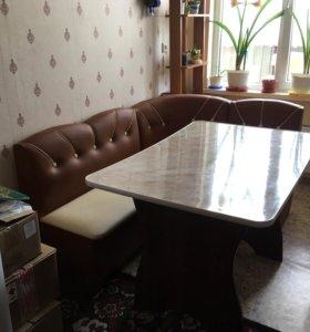 Стол+угловой диван