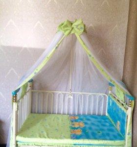 Детская кровать с люлькой