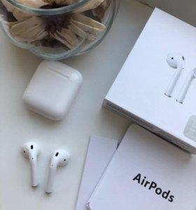 AirPods новые+чехол в подарок