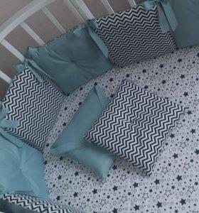 Бортики в кроватку новые
