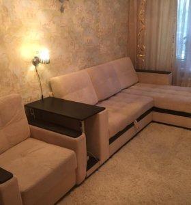 Раскладной угольный диван и раскладное кресло