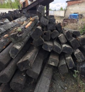 Шпала пропитанная б/у годная и на дрова