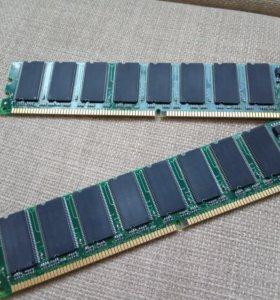 Оперативная память DDR MIKRON на 256мб каждая