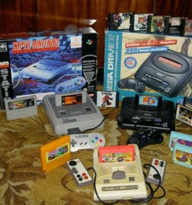 Игровые приставки Sega и Денди
