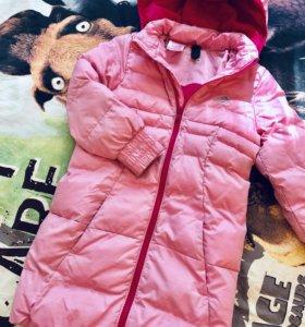 Пуховик adidas на девочку, 116 см