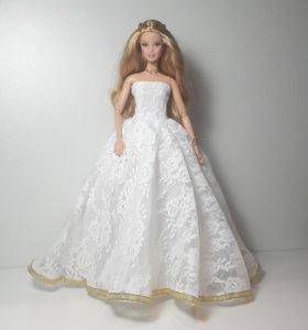 Платье Свадебное для куклы