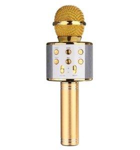 Караоке микрофон WS-858 (золото)