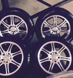 Комплект зимних колес на литье на мазду