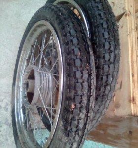 Два новых колеса на мотоцикл СССР