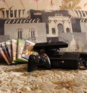 Xbox360 e на 500gb + Kinect + 6 игр