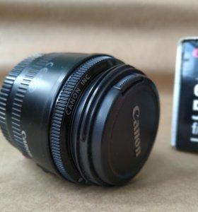 Объектив Canon EF 50mm f/1.8 ll. Бленда в подарок!