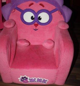 Детское мягкое кресло смешарики Ежик