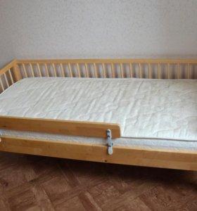 кровать икея+матрас орматек