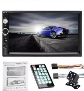 Автомагнитола с камерой Bluetooth AUX новый