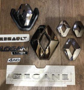 Эмблема значок надпись Renault Комплект