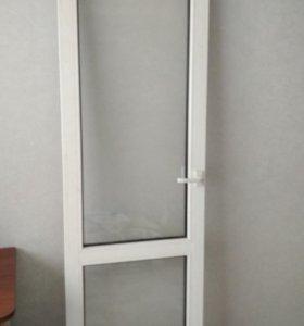 Дверь пластиковая балконная б/у