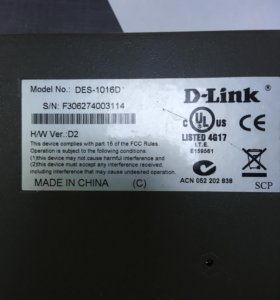 Коммутатор D-link DES-1016D