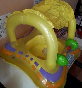 Надувной детский круг для плавания