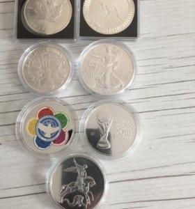 Монеты, серебро.