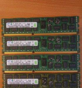 Samsung ecc reg DDR3 16Gb (4x 4Gb) 1600Mhz