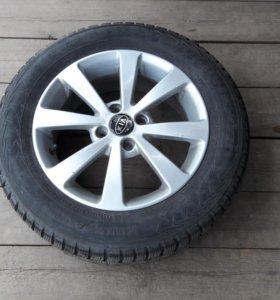 колеса на зимней резине R 15 185/65, 4×100 Et 48