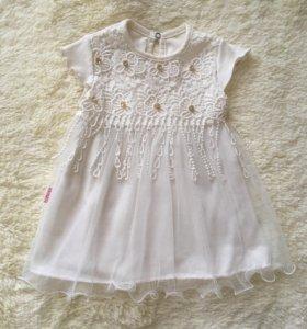 Платье 6-12м