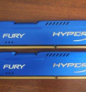 Hyperx Fury DDR3 8Gb ( 2 x 4Gb) 1600 Mhz