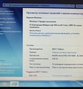 Нетбук ViewSonic intel atom 2 яд/Озу 2Gb/SSD 60Gb