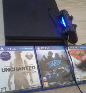 Sony PlayStation 4 slim + 5 игр