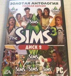 Игровые диски Sims 3,Sims 4