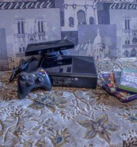 Xbox360 e на 500gb + Kinect + 5 игр