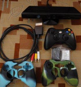 Кинект, джойстик, провода Xbox 360