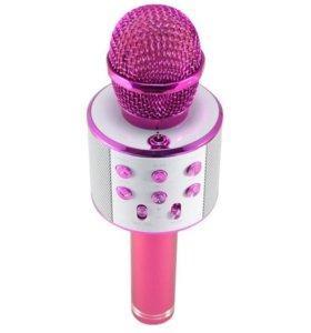 Караоке-микрофон WS-858 (розовый)