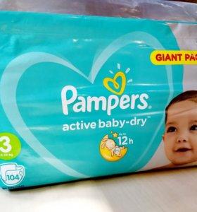 "Подгузники Pampers ""Active baby-dry"" 3 (6-10кг)"