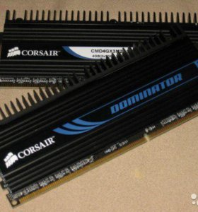 Corsair Dominator DDR3 1600 мгц (2x2gb)
