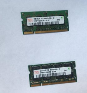 DDR2 для ноутбука 2гб и 1гб