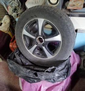 Продам колёса с резиной R14 4х98