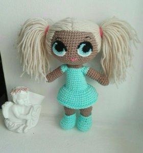 Куколка лол вязаная