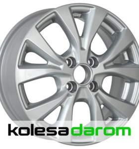 КиК КС685 (15_Solaris FL) 6x15/4x100 D54.1 ET48 Silver