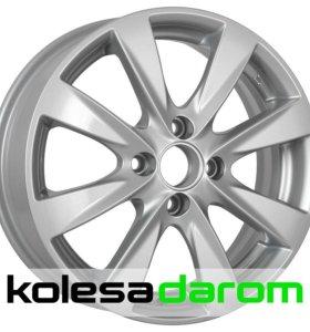 КиК KC581 (Solaris, Rio new) 6x15/4x100 D54.1 ET48 Silver