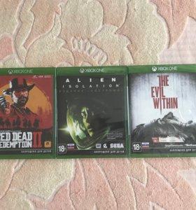 Игры на Xbox One новые, в пленке.