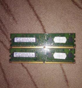 SAMSUNG M378T2863EHS-CF7 DDR2 1G